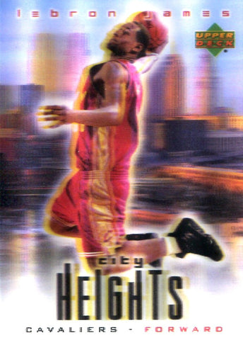 LeBron James 2003 City Heights Holographic Card
