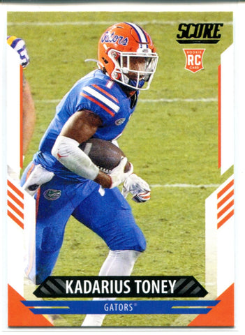Kadarius Toney 2021 Panini Score Rookie Card #372