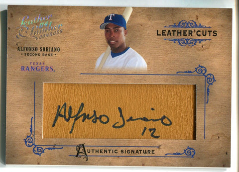 Alfonso Soriano 2004 Donruss Leather Lumber Autographed Card #149/160