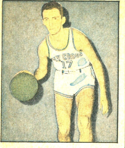 Bob Cousy 1951 Berk Ross Inc. Unsigned Rookie Card