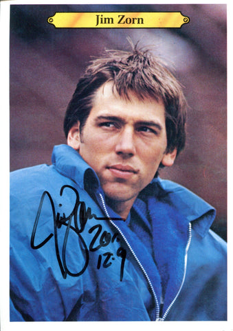 Jim Zorn Autographed 1980 Topps Over Sized Card