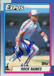Rock Raines 1989 Topps Autographed Card