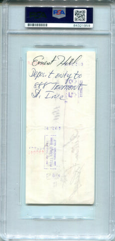 Bill Russell Autographed Personal Check (PSA/DNA)