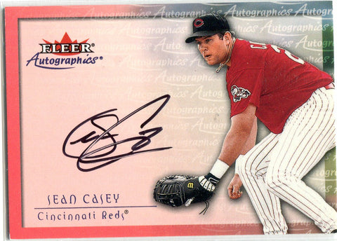 Sean Casey 2000 Fleer Autographed Card