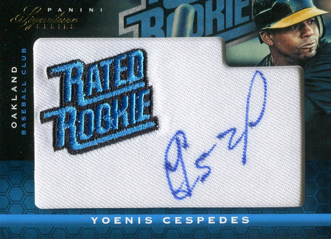 Yoenis Cespedes 2012 Panini Rated Rookie Patch/Autographed Card