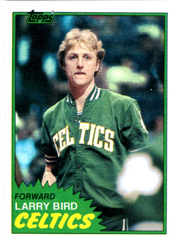Larry Bird 1981 Topps Card