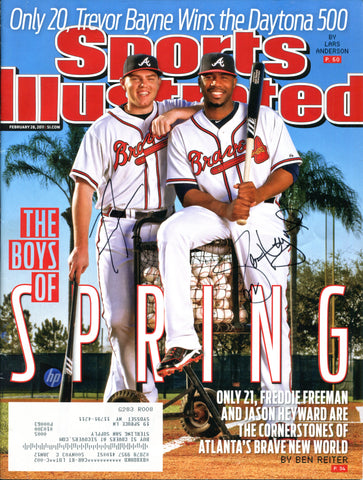 Freddie Freeman & Jason Heyward Autographed Sports Illustrated Magazine