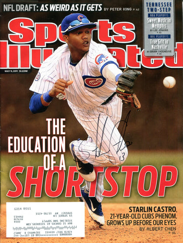 Starlin Castro Autographed Sports Illustrated Magazine