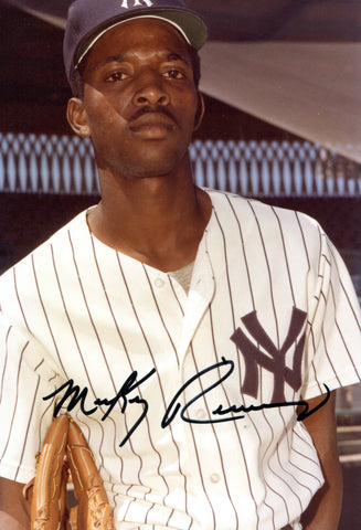 Mickey Rivers Autographed 4x5 Photo