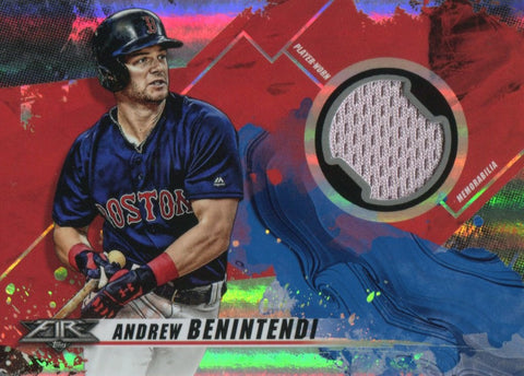 Andrew Benintendi 2019 Topps Fire Jersey Relic Card