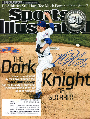 Matt Harvey Autographed Sports Illustrated Magazine