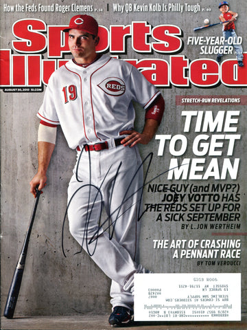 Joey Votto Autographed Sports Illustrated Magazine