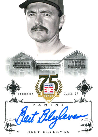 Bert Blyleven 2014 Panini Autographed Card