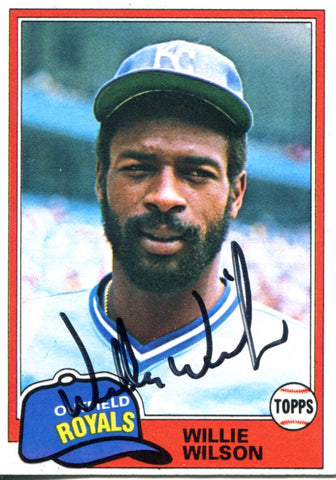 Willie Wilson Autographed 1981 Topps Card