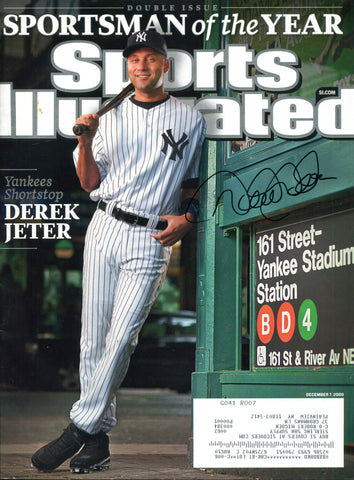 Derek Jeter Autographed Sports Illustrated Magazine