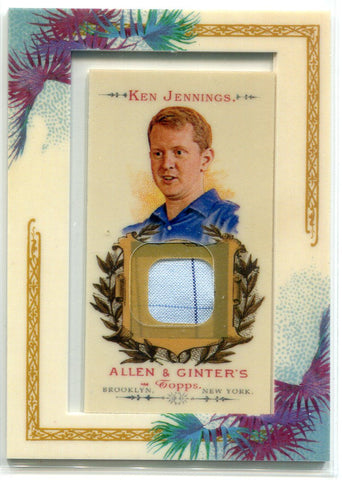 Ken Jennings 2007 Topps Allen & Ginter Jeopardy Champion Shirt Card