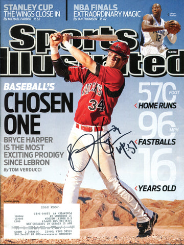 Bryce Harper Autographed Sports Illustrated Magazine