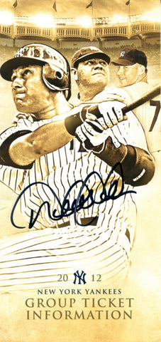 Derek Jeter Autographed 2012 New York Yankees Ticket Pamphlet
