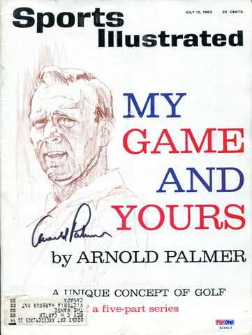 Arnold Palmer Autographed Sports Illustrated Magazine (PSA)
