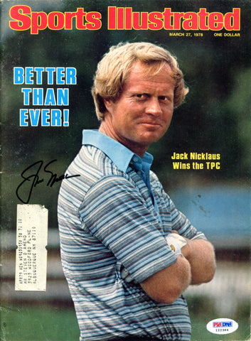 Jack Nicklaus Autographed Sports Illustrated Magazine (PSA)