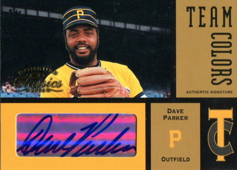 Dave Parker Autographed 2004 Donruss Classics Team Colors Card