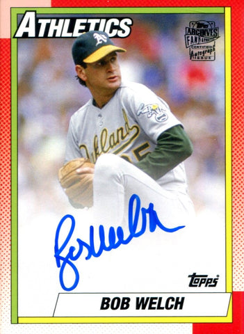 Bob Welch Autographed 2013 Topps Archives Card