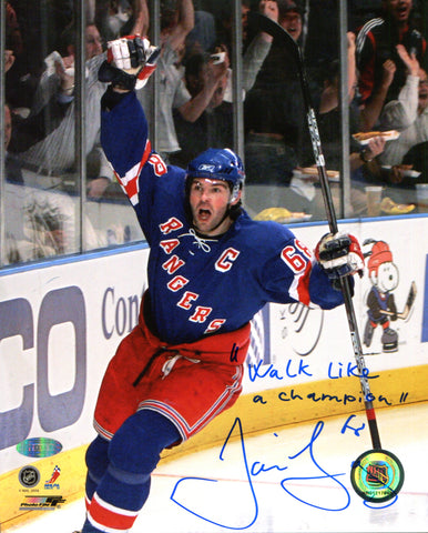 "Jaromir Jagr ""Walk Like A Champion"" Autographed 8x10 Photo (Steiner)"