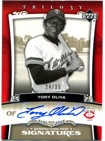Tony Oliva 2005 Upper Deck Autographed Card