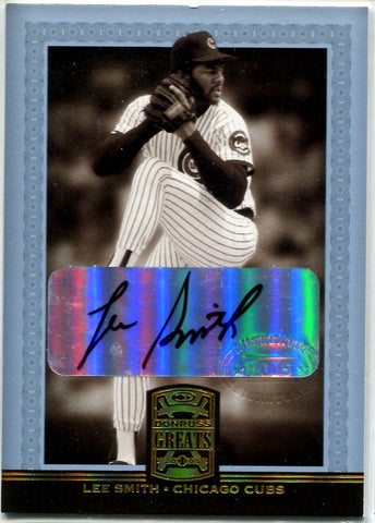 Lee Smith 2005 Donruss Greats Autographed Card