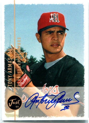 Tony Armas Jr. 1999 Just Minors Autographed Card