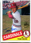 Tom Herr 2003 Topps Archives Autographed Card