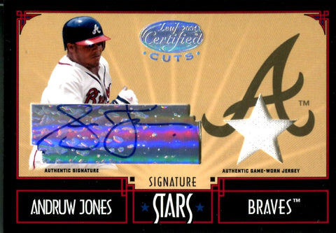 Andruw Jones 2004 Donruss Game-Used/Autographed Card #23/25