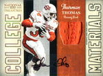 Thurman Thomas Autographed 2009 Panini National Treasures Jersey Card Card