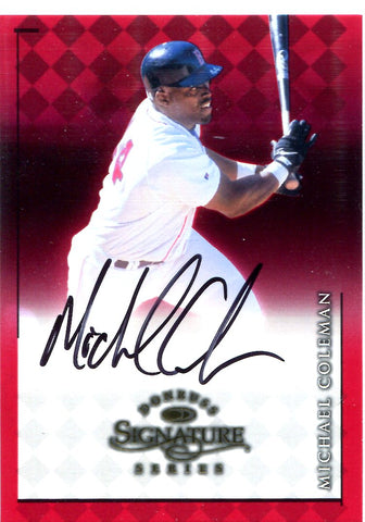 Michael Coleman 1998 Donruss Signature Series Autographed Card
