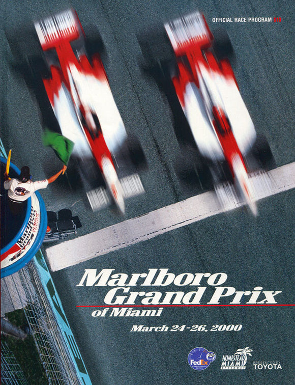 Marlboro Grand Prix of Miami March 26, 2000 Program with Tickets