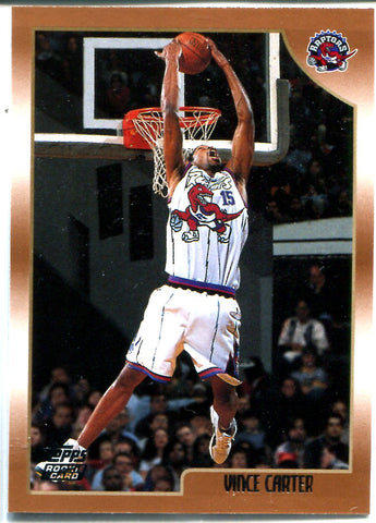 Vince Carter 1999 Topps Unsigned Rookie Card