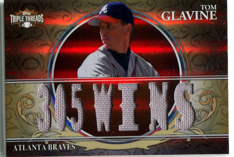 Tom Glavine 2013 Topps Triple Threads Relic Card #5/27