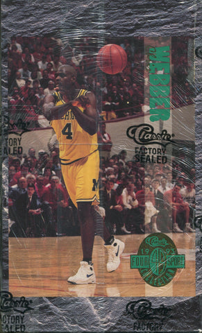 1993 Classic Four Sport Collection Basketball Hobby box