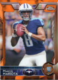 Marcus Mariota 2015 Topps Chrome Orange Refractor Rookie Card