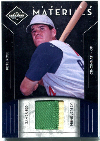 Pete Rose 2012 Panini Limited Series Game-Used Jersey Card #30/49