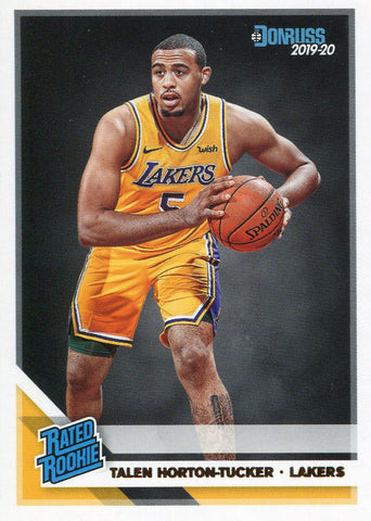 Talen Horton-Tucker 2019-20 Panini Donruss Rated Rookie Card