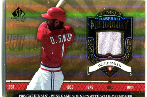 Ozzie Smith 2006 Upper Deck Baseball Chronology Jersey Card
