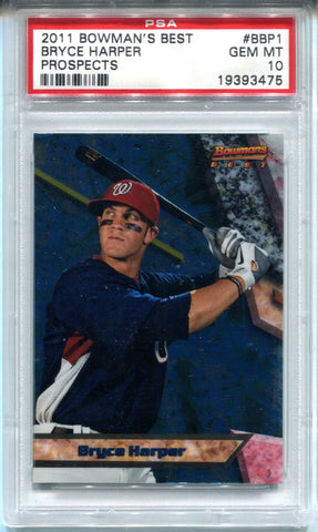 Bryce Harper 2011 Bowman's Best Prospects  Rookie Card (PSA)