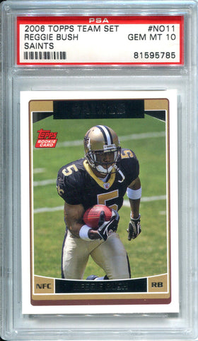 Reggie Bush 2006 Topps Team Set Rookie Card (PSA)