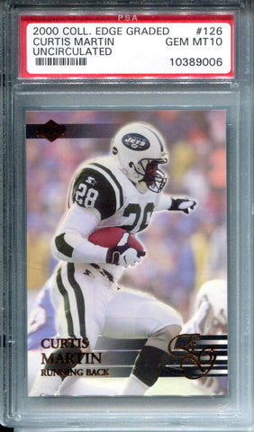 Curtis Martin 2000 Collectors Edge Rookie Card (PSA)