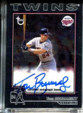 Tom Brunansky 2004 Topps Chrome Sealed Autographed Card