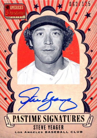 Steve Yeager Autographed 2013 Panini America's Past Time Card