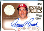 Johnny Bench 1999 Topps Stadium Relics Autographed Card