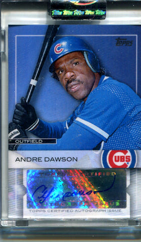 Andre Dawson 2009 Topps Sealed Autographed Card