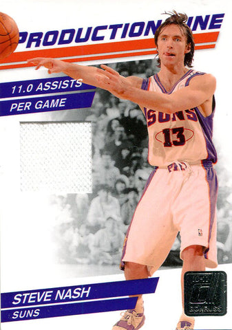 Steve Nash Unsigned 2010 Donruss Jersey Card